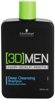 Schwarzkopf Professional [3D] MEN hloubkově čisticí šampon